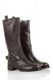Patrizia Pepe | Leren laarzen Stilla | zwart  | Afbeelding 3