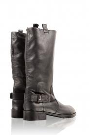 Patrizia Pepe | Leren laarzen Stilla | zwart  | Afbeelding 4