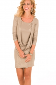 Patrizia Pepe | Mini jurk Felice | goud   | Afbeelding 2