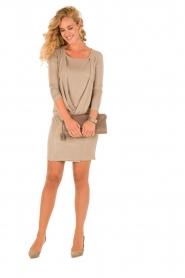 Patrizia Pepe | Mini jurk Felice | goud   | Afbeelding 3