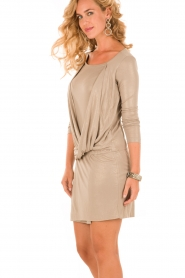 Patrizia Pepe | Mini jurk Felice | goud   | Afbeelding 4