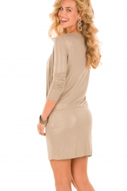 Patrizia Pepe | Mini jurk Felice | goud   | Afbeelding 5