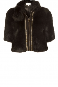 Faux fur jacket Eloisa | black