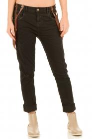 Manila Grace | Jeans Dest | zwart  | Afbeelding 2