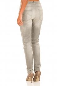 Manila Grace | Boyfriend jeans Fabio | lichtgrijs  | Afbeelding 5