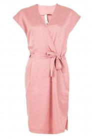 Dante 6 | Zijden jurk Amari | roze   | Afbeelding 1