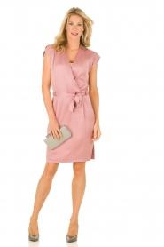 Dante 6 | Zijden jurk Amari | roze   | Afbeelding 3