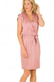 Dante 6 | Zijden jurk Amari | roze   | Afbeelding 2