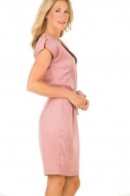 Dante 6 | Zijden jurk Amari | roze   | Afbeelding 4