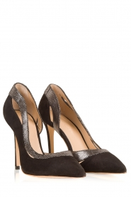 March23 | Suede pumps Alessia | zwart   | Afbeelding 3