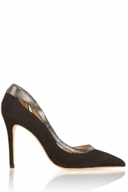 March23 | Suede pumps Alessia | zwart