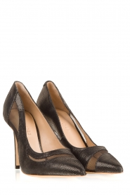 March23 | Leren pumps Angelica | zwart   | Afbeelding 3