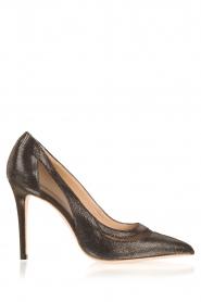 March23 | Leren pumps Angelica | zwart   | Afbeelding 1