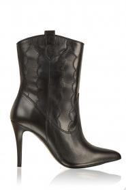 March23 | Leren laarzen Rebecca | zwart   | Afbeelding 1