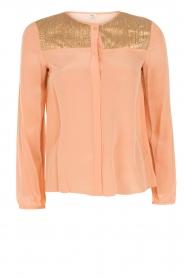Hoss Intropia | Zijden blouse Carmen | zalmroze  | Afbeelding 1