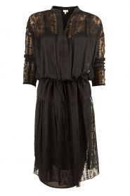Hoss Intropia | Zijden jurk Rose | zwart   | Afbeelding 1