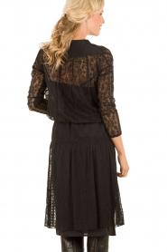 Hoss Intropia | Zijden jurk Rose | zwart   | Afbeelding 5