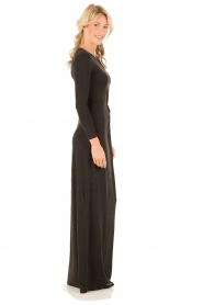 Hoss Intropia | Maxi jurk Lexi | donkergrijs   | Afbeelding 3