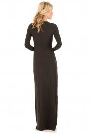 Hoss Intropia | Maxi jurk Lexi | donkergrijs   | Afbeelding 4