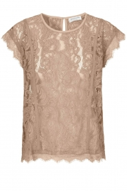 Lace top Ulrika | taupe