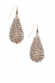 Earrings Crystal Drops XL | bronze
