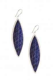 925 Sterling silver earrings Bunga | blue