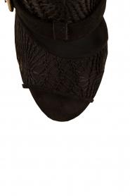 Morobé | Suède sandalen Laredo | zwart   | Afbeelding 6