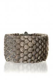 KMO Paris | Armband Reptile medium | zwart-zilver   | Afbeelding 1