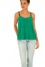 American Vintage |  Silk Top Riswell | green  | Picture 2