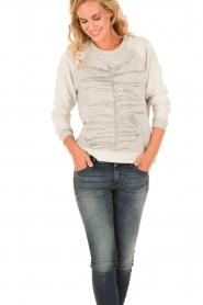 Munthe | Sweatshirt Gilian | grijs   | Afbeelding 2