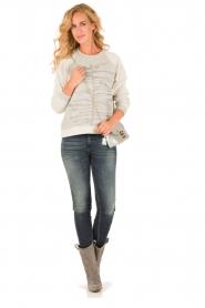 Munthe | Sweatshirt Gilian | grijs   | Afbeelding 3