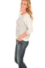 Munthe | Sweatshirt Gilian | grijs   | Afbeelding 4