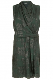Munthe |  Silk dress Glina | emerald  | Picture 1