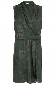 Munthe | Zijden jurk Glina | donkergroen  | Afbeelding 1