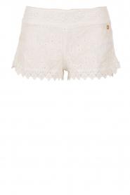 Lace short Bohemian | white