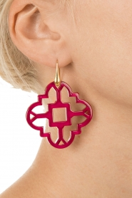 Earrings Mosaic | Fuchsia