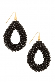 Earrings Crystal Drops | Black