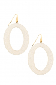 Oorbellen Stingray Hoops | wit