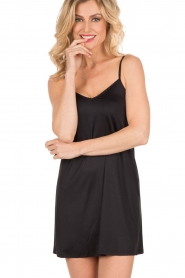 Slip dress Satin Deluxe | zwart