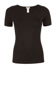 T-shirt soft touch | zwart