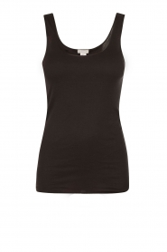 Tanktop Cotton Seamless | zwart
