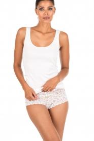 Hanro | Tanktop Seemless Cotton | wit  | Afbeelding 2