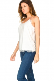CC Heart |  Top with lace Puck | white  | Picture 4