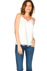 CC Heart |  Top with lace Puck | white  | Picture 2