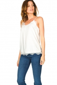 CC Heart |  Top with lace Puck | white  | Picture 3