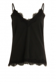 CC Heart |  Top met kant Puck | black  | Picture 1
