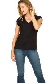 CC Heart |  V-neck T-shirt Vera | black  | Picture 3
