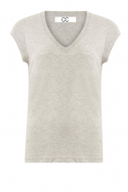 CC Heart |  Cotton mix v-neck T-shirt Vera | grey