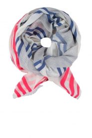 Scarf stripe | blue and pink