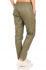 Leather pants Bobbi | green